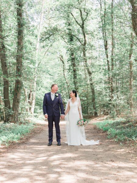Bruidsfotografie in het bos