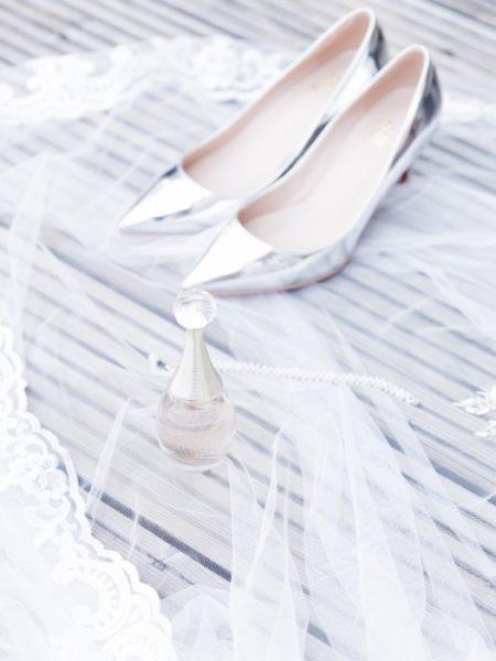 Bruiloftsfoto schoenen