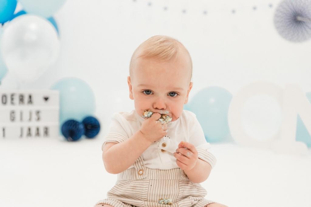 Cake smash Gijs fotoshoot