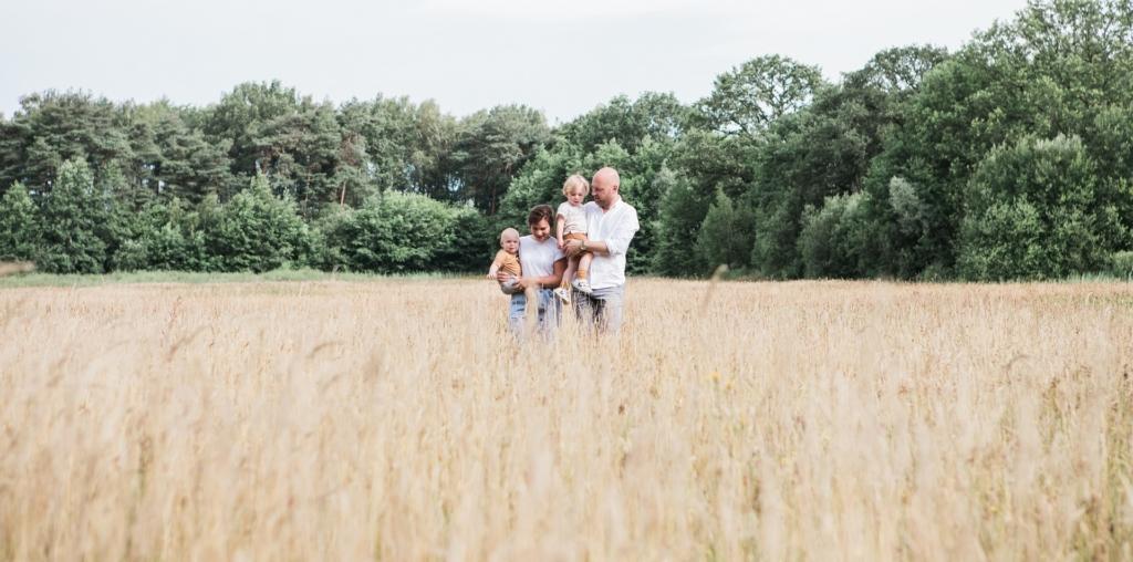 Familie fotoshoot op de heide