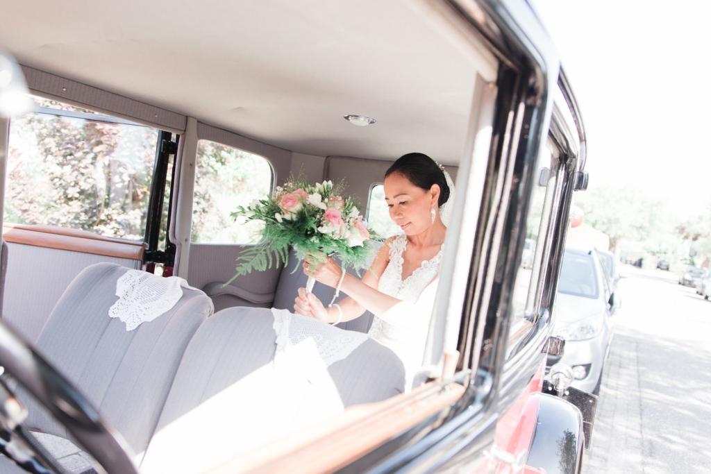 Foto bruiloft auto