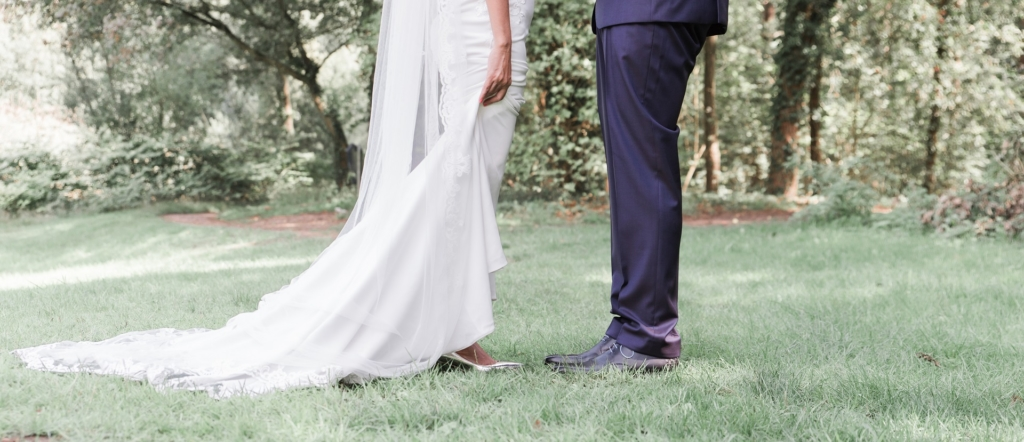 Fotografie bruiloft benen