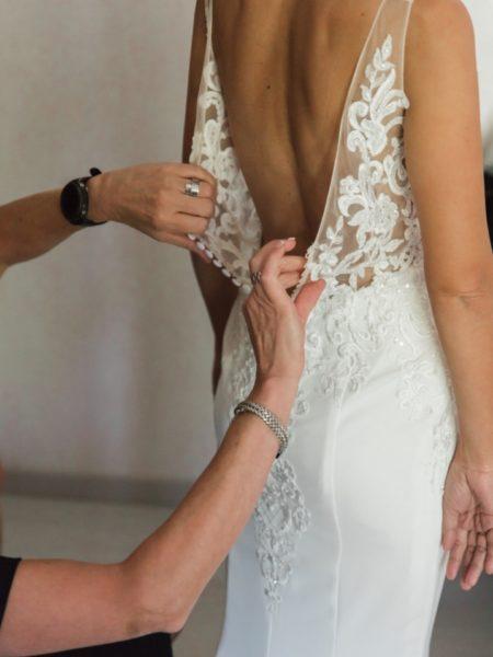 Fotografie jurk huwelijk