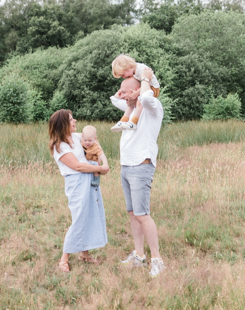 Fotoshoot met de familie