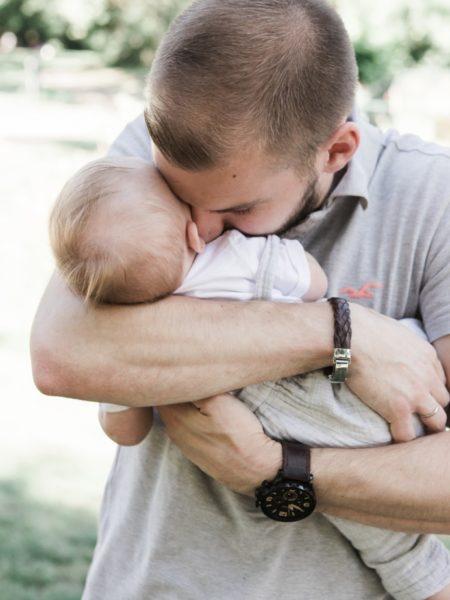 Newborn fotoshoot met vader