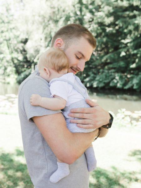 Newborn shoot met vader