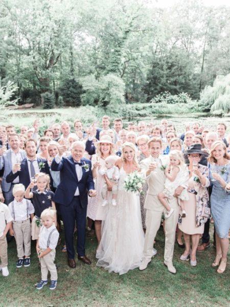 Familiefoto bruiloft