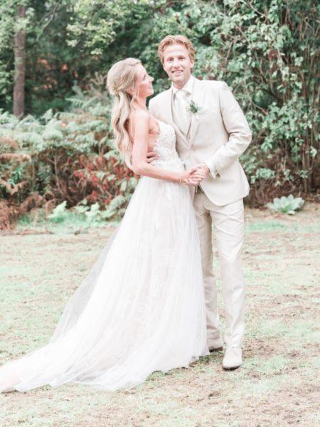 Fotoshoot bruidspaar