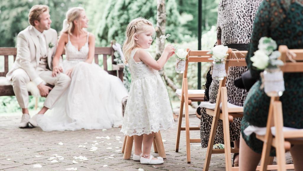 Fotoshoot op trouwlocatie