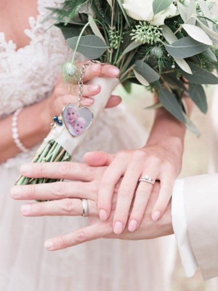 Fotoshoot trouwdag op locatie